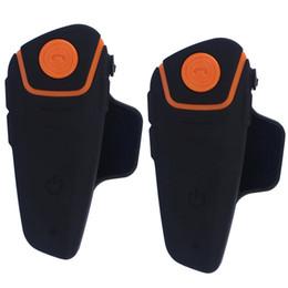 Wholesale Helmet Interphone Bluetooth Intercom - 2 pcs Waterproof 100% Motorcycle Moto Wireless Bluetooth Helmet Intercom Interphone Headset with FM function BT-S2