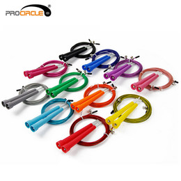 Wholesale Crossfit Speed Ropes Wholesale - Procircle 50Pcs Crossfit Skipping Rope 3M Steel Cable Wire Speed Jump Rope Fitness Mma ,Wods Fedex US Free Shipping