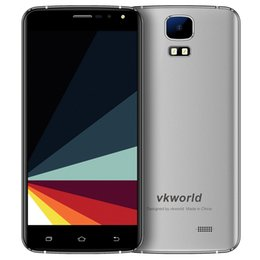 Wholesale S3 Greece - Vkworld S3 3G Smartphone Android 7.0 5.5 Inch MTK6580A Quad Core 1.3GHz 1GB RAM 8GB ROM Metal Frame 2.0MP+8.0MP Dual Flash Light