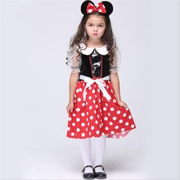 Wholesale Mascot Costumes For Girls - Baby Kids Mascot Costume Mickey Cartoon Dolls Clothes Halloween Fancy Party Dresses Christmas Cosplay Uniform For Girls Age