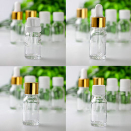 Wholesale Empty Dropper Bottles Glass Clear - Popular Selling 10ml Clear Glass Dropper Bottles with Pipette Cap Tamper Cap Screw Cap Empty 10 ml Esssentail Oil Bottles Liquid Vials Jars
