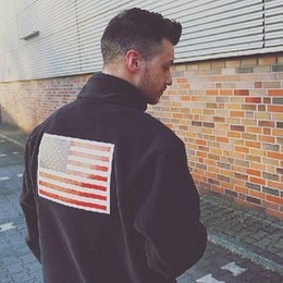Wholesale Panel Flag - 17ss S Fleece Jacket Trans Antarctica Flag Jacket Men Women Coats Fashion Outerwear Top Quality 5 Color S~XL HFZRY001