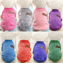 Wholesale winter puppy clothes xs - Classic Warm Dog Clothes Puppy Outfit Pet Jacket Coat Winter Clothes Soft Sweater Clothing For Small Dogs Chihuahua XS-2XL