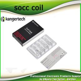Wholesale Mini Protank Kangertech - Authentic Kanger SOCC coil MT32 Coil head 1.5ohm 1.8ohm 2.2ohm 2.5ohm For kangertech Japanese Organic Cotton Mini Protank 2 Evod 2211059