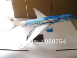 Wholesale Cheap Airplane Models - MALAYSIA 777(SEA WAVE),45cm Resin airplane models Diecasts & Toy Vehicles Cheap Diecasts & Toy Vehicles