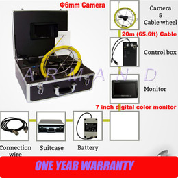 Wholesale Small Industrial Camera - 6mm Camera Size Small CCTV Push Rod Camera in Pipe Inspection Camera with 7inch Monitor Industrial Endoscope
