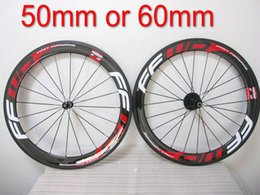 Wholesale 16 Hot Wheels Bike - Hot sell FFWD 60mm clincher Tubular Red bicycle wheels,fast forward 700c carbon bike racing wheelset