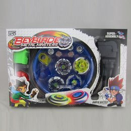 Wholesale Beyblade Toys For Free - Wholesale- New Classic Toys Beyblade Metal Spinning Top Gyroscope 4 Beyblade For Sale Alloy Gyro Plate Kit Beyblade Sets Free Shipping