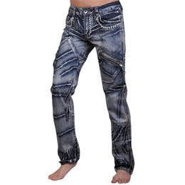 Wholesale Mens Designer Jeans 34 32 - Wholesale-2016 Mens Designer Anthony Dragon Printing Jeans Denim Top Pants Man Fashion Pant Clubwear W30 32 34 36 38 L32 J018