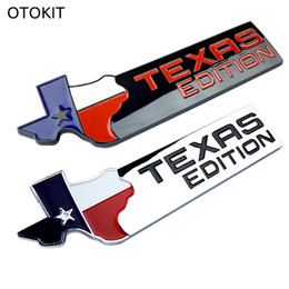 Wholesale Chrome Body Side - TEXAS EDITION Trunk CHROME Car Tail Emblem Side Wing Badge Car Fender Sticker for JEEP Renegade Wrangler Patriot Cherokee