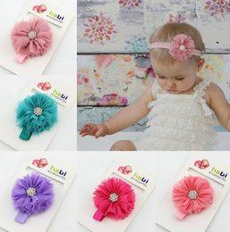 """Wholesale Headbands Trial - 2.5"""" Chiffon Shabby Look Flower Headbands Trial order Baby Photography Prop Paper packaging"""