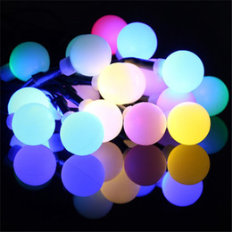 Wholesale 12v Led Bulb String - Christmas Lights Lamps Multi-Color Solar Power 20 LED Ball Light Fairy String Lamp Bulb Garden Xmas Wedding Decoration Lighting