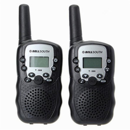 Wholesale Channel Radio Set - 2016 Brand new bellsouth 2Pcs (a pair) Walkie Talkie Travel T-388 0.5W UHF Auto Multi Channels 2-Way Radios Interphone 2pcs set