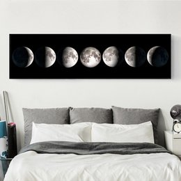 Wholesale Moon Wall Decoration - 30*100Cm Bedroom Wall Decoration Modern Simplicity Unframed Paintings Banner Wall Paints Moon Wall Art Paintings