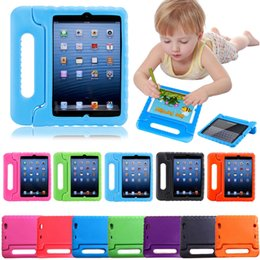 Wholesale Ipad Mini Kids Covers - 3D Cute portable kids Safe Foam ShockProof EVA Case Shockproof Handle Cover Stand For iPad New 2017 2 3 4 air 2 Mini 4 case For galaxy tab