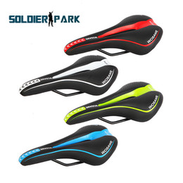 Wholesale Out Road - Mountain Bike Cycling Hollowed-out Breathable Skidproof Saddle Bicycle Front Seat Mat High Elasticity Cushion Seat 4 Colors order<$18no trac