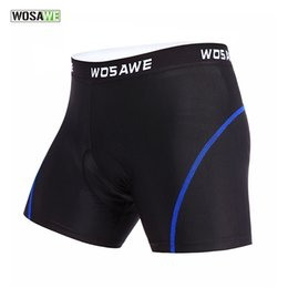 Wholesale Mens Polyester Spandex Underwear - WOSAWE High Quality New Mens Womens Cycling Shorts Padded Gel Underwear Spandex Mountain Bike Bicycle Tight Underpant