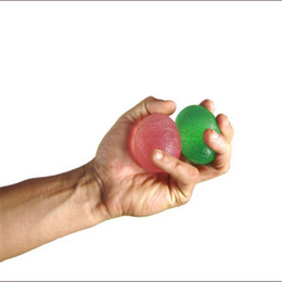 Wholesale Hand Squeeze Ball - Wholesale-Hand Wrist Finger Exercise Toy Anti Stress Mood Squeeze Relief Reliever Ball Egg Shape