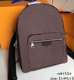 Wholesale Men Real Genuine Leather Wallet - Brand New Backpacks Men Bag CX#103 Real Canvas Leather AAA+Quality School Bags Wavy lines Hobo Bags Wallets Josh N41473 41530