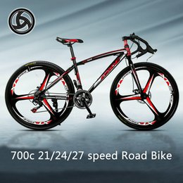 Wholesale Road Bicycle 24 - Road Bike A wheel 3 Rim Bend Men And Women Road Racing 21 24 27 Speed Magnesium Alloy Bicycle