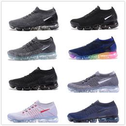 Wholesale Men Shoes Belt - New Vapormax moc black belt Mens Running Shoes For Men Sneakers Women Fashion Athletic Sport ShoeWalking Outdoor Shoe