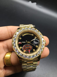 Wholesale Round Table Tops - AAA top luxury brand diamond men's calendar table 118348 sapphire mirror Swiss brand automatic mechanical classic noble new listing