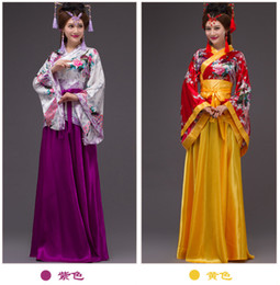 Wholesale hanfu clothes - new hanfu ancient costume stage costume Han Chinese Clothing dancing dress