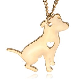 Wholesale hot dog necklace - Americansmall dog pendant Silver Necklace Small Necklaces Pendants Women Hot Selling Handmade Animal Factory ZJ-0903631
