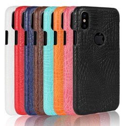 Wholesale Iphone Crocodile Leather - For iPhone 7 Case Ultra Slim Fit crocodile Leather phone cases for iPhone 8 6S 6 Plus Samsung Galaxy S7 edge S8 plus