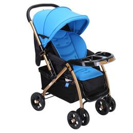 Wholesale Portable Armrest - High Landscape Brand Quality Portable Lightweight Baby Stroller Portable Folding Pushchair Pram Dinner Plate Cup Holder Armrest