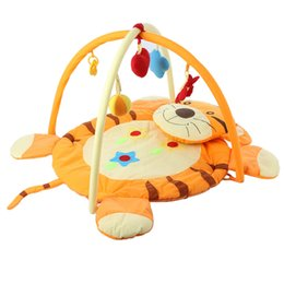 Wholesale Baby Tiger Blankets - Baby Soft Play Mat Game Blanket Kids Play Gym Blanket Fitness Frame Educational Baby Toys Tiger Pattern Crawling Baby Play Mats