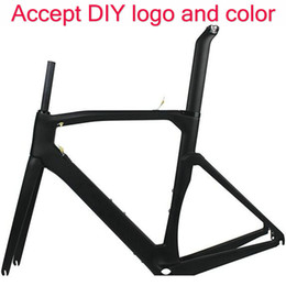Wholesale Road Bike Frame 56 - Made in taiwan carbon frame T1100 1K bicycle carbon frameset 44 46.5 50 51.5 53 54 55 56 57.5 59cm red yellow sky bike frame free shipping