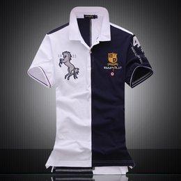 2019 рубашки поло для мужчин Вышитые лошадь логотип бренда Militare мужчины рубашки поло ВВС один с коротким рукавом поло Мужской топ tee мужчины марка одежды дешево рубашки поло для мужчин
