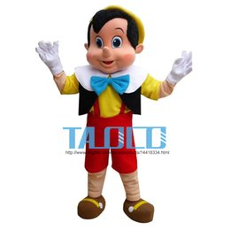 Wholesale Character Suits Mascots - High quality Pinocchio Mascot Costume, Adult Halloween Fancy Dress Cartoon Character Outfit Suit, Free Shipping