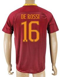 Wholesale Shirt Mario - Top Customized 16 DE ROSSI Rome Soccer Jersey Shirts,6 STROOTMAN Thai Quality Football Jerseys Tops,22 MARIO RUI 4 NAINGGOLAN Soccer WEAR