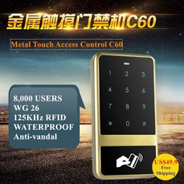 Wholesale Entry Metal Door Access Control - Brand New Metal Anti-vandal Touch Keyboard 125KHZ RFID & PIN Door Entry Access Control Keypad