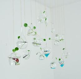 Ampoule coeur forme 18 styles verre suspendus vases terrarium / ampoule, terrarium succulent de plante air pour la décoration intérieure, cadeaux verts, y compris la corde ? partir de fabricateur