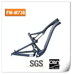 "Wholesale Mtb Full Suspension Carbon Frame - 2018 New 27.5er Full Suspension Mountain Bike Frame 200x50mm 650B Carbon Fiber MTB Frameset 15.5"" 17.5"" 19 20.5"" MTB frames FM736"