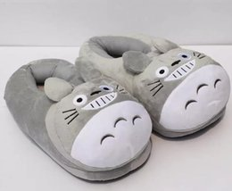 "Wholesale Indoor Slippers For Kids - 2017 My Neighbor Totoro Plush Shoes Soft Winter Indoor Slippers For Adult 11""28cm"