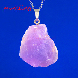 Wholesale Topaz Stone Necklace - Mens Jewelry Natural Gem Stone Pendulum Pendants New Reiki Amulet Charms Topaz Amethyst etc Stone Accessories European Fashion Jewelry