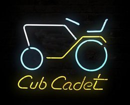 """Wholesale Auto Stores - New Cub Cadet Noen Sign Custom Handcrafted Real Glass Tube Auto Beer Bar KTV Club Pub Store Advertisement Display Neon Signs 17""""X14"""""""