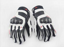 Wholesale White Black Motorcycle Gloves - New men's leather motorcycle racing gloves touch screen for Suzuki Honda Kawasaki Yamaha KTM BMW - Ducati
