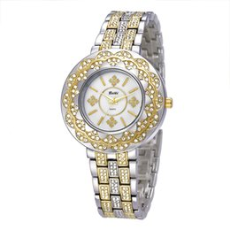 Wholesale Display Snowflakes - Gold watch Luxury Quartz Watches Women watches Stainless steel waterproof Watches for women Snowflake decorationThree-pin display for belbi
