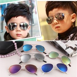 Wholesale Kids Eyeglasses Frames Wholesale - 2016 Summer Children Reflect Light Stylish Kid Vintage Goggles Boy Colored Sunglasses Eyeglasses Adumbral Oval Uvioresistant