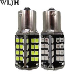 Wholesale 1156 Canbus Led - WLJH Canbus 1156 P21W BA15S 2835 SMD Car LED 12v External Stop Brake Rear Tail Light Bulb Backup Reverse Light Turn Signal Lamp