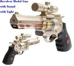 Wholesale Sound Light Toy Guns - Free DHL Shipping Gun Model Toy Guns Revolver with gunfire sound and projection light hot selling wholesale