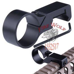 "Wholesale Picatinny Side Mount - Scope Mounts 1"" Offset Ring Flashlight Light Laser Side Mount 20mm 7 8"" Weaver Picatinny Rail Mount"