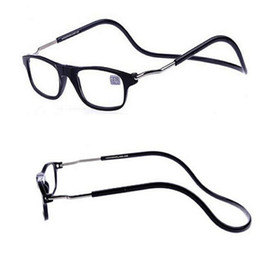 Wholesale reading eyeglasses - 2016 New Removable Reading Glasses Neck Hanging on Eyeglasses Ultralight Magnet Presbyopia 1.00-4.00 Diopter