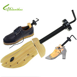 Wholesale Stretcher Shoes - Wholesale-1Pcs Portable Mini Shoes Stretchers Durable Solid Wood Width Extender Adjustable Shoe Tree Hot Sale for Female Male FreeShipping