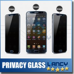 Wholesale Spy Mirrors - Privacy Tempered Glass For S7 iPhone 6 6s Note 5 Screen Protector Anti-Spy Film Screen Guard Cover Shield